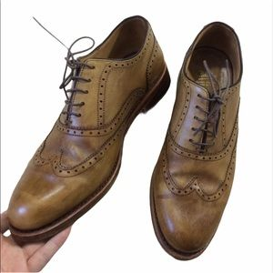 Paraboot French Luxe Oxford Leather Tan Handsewn